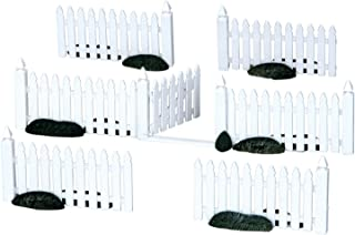 Lemax Christmas Village White Picket Fence and Gate 7-Piece Accessory Set #14388