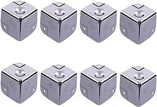 8 Delige Kofferhoeken, Zilveren Hoekbeschermer, ijzerchroom Gereedschapskist Hoekbeschermer, Kofferbaksteunen, Hoekbescher...