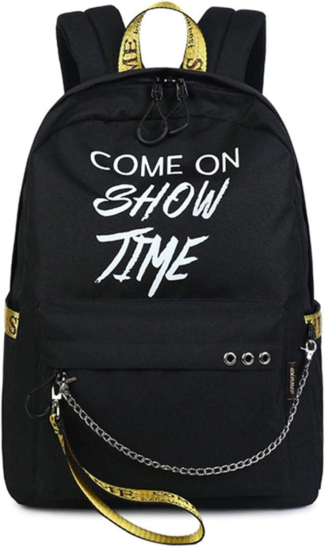 Luminous Waterproof Women Daily Backpacks College Student Bookbags School Knapsack B w y 30(cm) X13(cm) X40(cm)