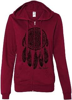 Native American Dreamcatcher Free Spirit Black Ladies Zip-Up Hoodie
