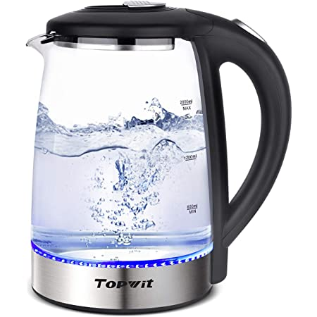 Topwit Electric Kettle 2L Stainless Steel Water Boiler with Auto Shut-off Tech