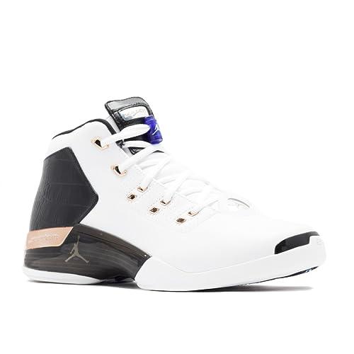 low priced a408f 7dc6d Jordan Men s Air 17 + Retro, WHITE METALLIC COPPER COIN-BLACK-SPORT