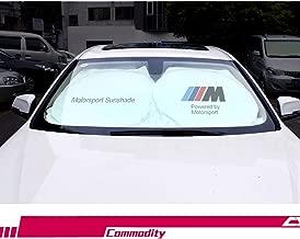 S-WEKA M Line Car Windshield Sun Shade - Blocks UV Rays Foldable Sun Visor Protector, Sunshade to Keep Your Vehicle Cool Damage Free,for BMW