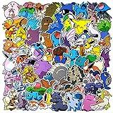 WayOuter Pokemon Sticker Aufkleber, 80 Stücke Anime Stickers einzigartige Kühle Aufkleber Kind...