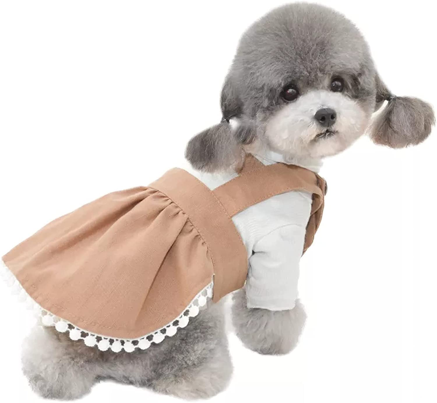 MDKAZ Clothes for Pets Cute Solid Pet Limited time free shipping Sling Factory outlet Smal Skirt Color