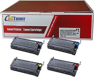 Calitoner Remanufactured Toner Cartridge Replacement for HP HP COLOR LASERJET 4600, 4650 CYAN TONER CARTRIDGE ( Black,Cyan,Magenta,Yellow , 4-Pack )