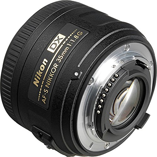 Nikon 35mm f/1.8 G DX AF-S Nikkor Lens with Case + 3 Filters + Kit for D3200, D3300, D5300, D5500, D7100, D7200 Cameras