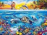 GEZHF DIY pintura por números, tortuga marina, para adultos, principiantes y niños, pintura por números, set de regalo preimpreso, 16 x 20 pulgadas lienzo
