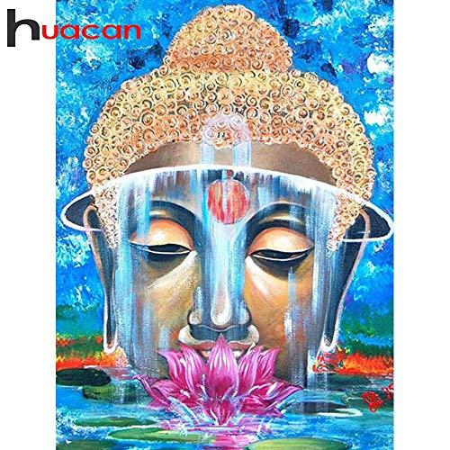 FHGFB 5D DIY Diamante Pintura Religiosa Buda Bordado Completo Venta Imagen Rhinestone Diamante Mosaico Decoración del Hogar Regalo -40x50cm Sin Marco