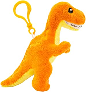 Scentco Dino Dudes Backpack Buddies - Scented Plush Dinosaur Clips - Orange T-Rex