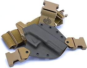 GunfightersINC Kenai Chest Holster for Glock 20/21/40 MOS, MAS Grey/Coyote, Right Hand