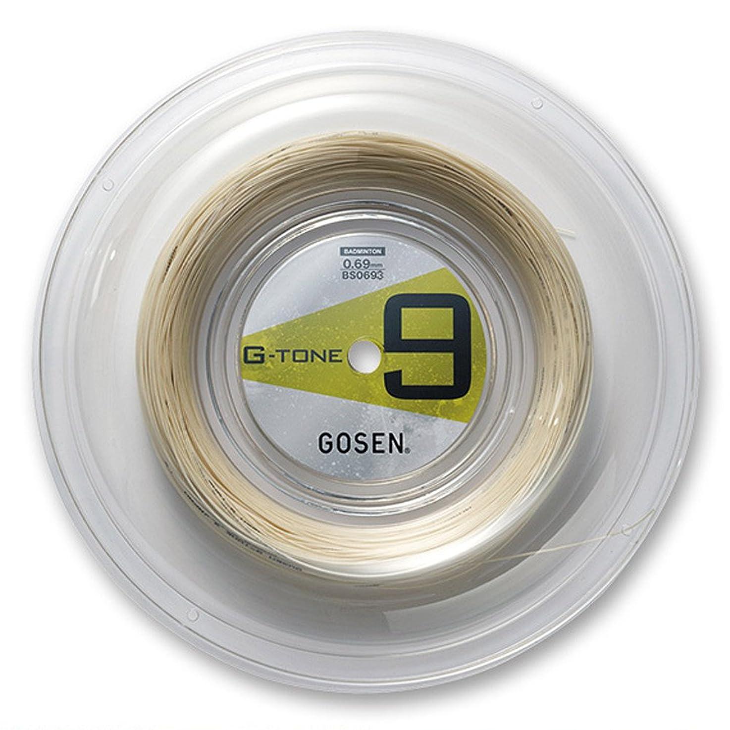 ノイズ季節リマゴーセン(GOSEN) バドミントンストリング G-TONE 9 220m ロール ナチュラル G-BS0693-NA
