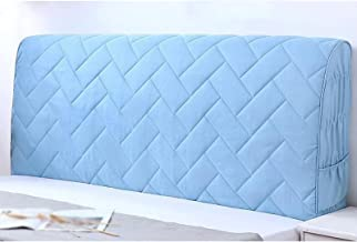 Headboard Slipcover for Headboards Thickened Cover Soft Pack Backrest Decorative Cover Headboard Cover (Color : Blue, Size...