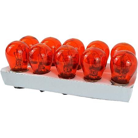 12v 2 Faden Glühbirne Glühlampe Orange Ba15d Für Harley Blinker Us Cars 10 Stück Auto