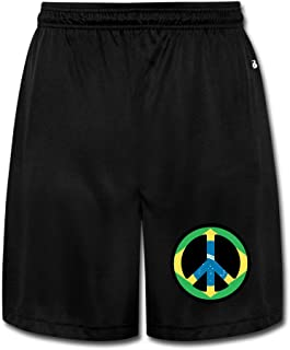 NImao Men's Brazil Flag Clip Art Shorts Sweatpants