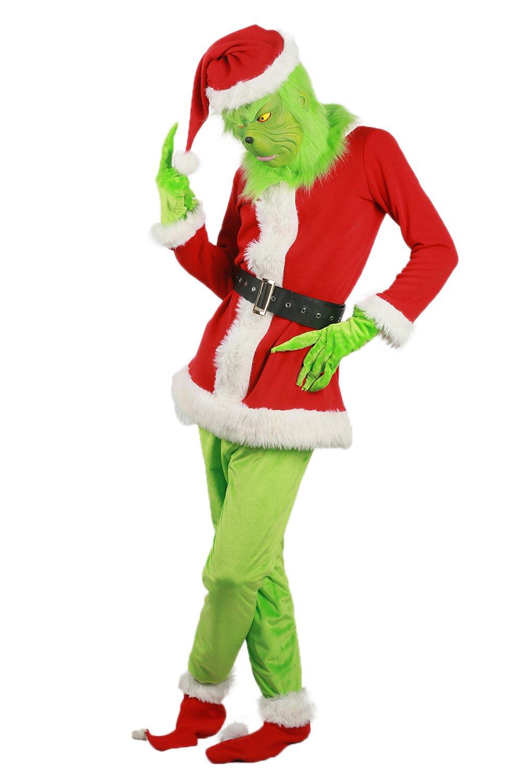 BIRDEU Grinch Disfraz Cosplay Especial Uniforme Outfit Hombre ...
