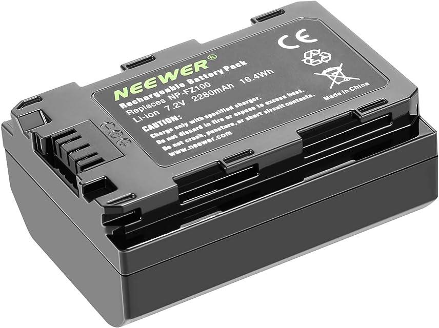 Neewer Recambio Batería para Sony NP-FZ100 Compatible con Cámaras Sony A9 A7III A7RIII y Empuñadura VG-C3EM 72v 2280mAh 164Wh Batería de Ion de Litio Recargable (Batería Sola)