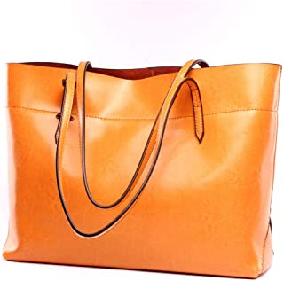 Covelin Womens Handbag Genuine Leather Tote Shoulder Bags Soft Hot