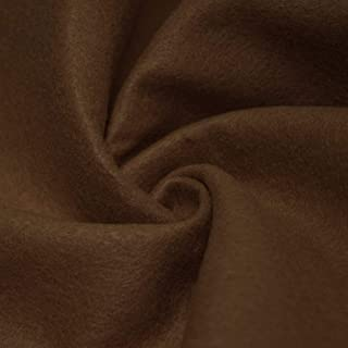 "AK TRADING CO. 72-Inch Wide 1/16"" Thick Acrylic Felt Fabric for Arts & Crafts, Cushion and Padding, Sewing Projects, Kids School Projects, DIY Projects & More. - Light Brown, 1 Yard"