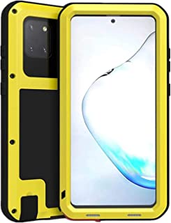 JAMIE Case for Samsung Galaxy Note 10 Lite, Outdoor Sports Heavy Duty Metal Case Waterproof Shockproof Dustproof Cover wit...