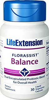 Life Extension FLORASSIST Balance Probiotic Blend Vegetarian Capsules 30 Count (Pack of 2)