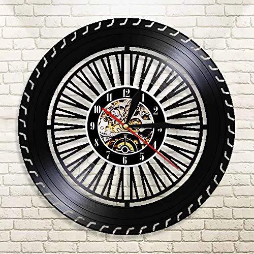 WERWN Rad Wanduhr Oldtimer Lenkrad Uhr Auto Service Vinyl Schallplatte dekorative Wanduhr