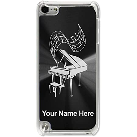 Case Compatible with iPod Touch 5th/6th/7th Generation, Grand Piano, Personalized Engraving Included (Black)