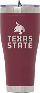 Mammoth Coolers Collegiate Drinkware Texas State 30 oz. Tumbler with Lid, Red, Large