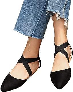Women Pointed Toe Flats Sandals Low Heel Pumps Satin Leopard Wedding Evening Prom Dress Shoes (US:8, Black)