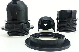 HAIMEN Support d'ampoule E27, Support d'ampoule à vis E27, Anneau de Collier d'abat-Jour, Lampes à LED et Ampoules Standar...