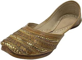 Step n Style Ladies Pure Leather Antique Punjabi Jutti Ethnic Mojari Handmade Khussa Juti