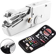 TECHVIDA Mini Máquina de Coser Portátil Automático Eléctronico Compacta Doble Velocidades Controlar Doble de Hilos Máquina,Costura de Costura Rápida