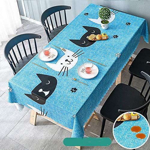 Mantel rectangular de pvc impermeable a prueba de aceite de poliéster suave cubierta protectora de mesa de picnic estera cena decoración de cocina JFCUICAN (color: 023, especificación: 140 x 180 cm)