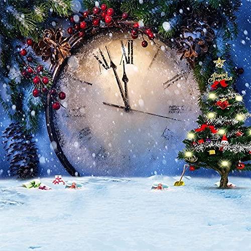 Taladro Redondo Completo Kit De Pintura De Diamante 5D Diy Reloj De Navidad Punto De Cruz Pintura De Pegar La Costura De La Sala De Estar Bordado 40X50cm