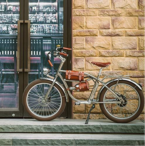 CHANGXIE Bicicleta Eléctrica 500W Bicicleta Gruesa eléctrica Playa Retro Bicicleta Cruiser Bicicleta eléctrica Retro Bicicleta eléctrica clásica eléctrica 24 Inch