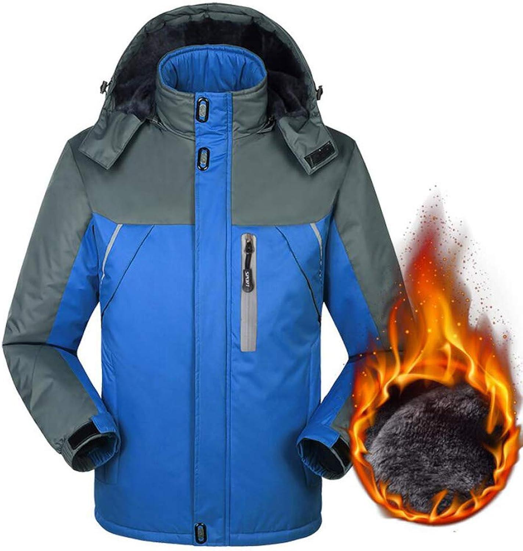 FEIYUESS Mnner Jacke Plus Samt Dicke Wasserdichte Outdoor Klteschutz Baumwolle Jacke Bergsteigen Kleidung