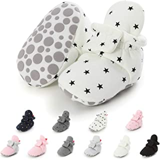 Meckior Newborn Infant Baby Girls Boys Warm Fleece Winter Booties First Walkers Slippers Shoes