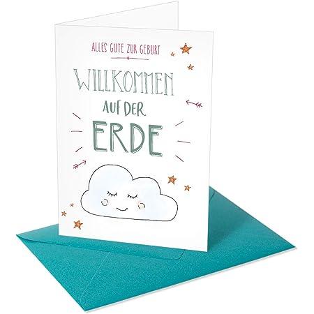 Chica Chica/Grußkarte/Glückwunschkarte zur Geburt/Willkommen auf der Erde
