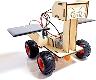 DEUXPER Science Solar Mars Rover Model DIY Kit, Eco-Engineering Project Building Toys, Stem Educational Gift, DP-XBS099