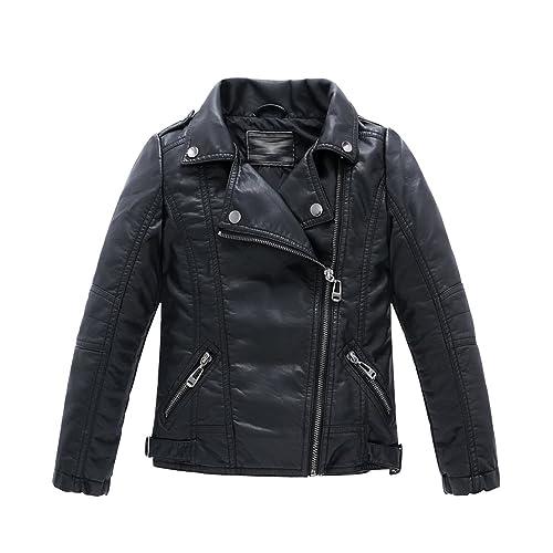 fbce73d0f Toddler Faux Leather Jacket  Amazon.com