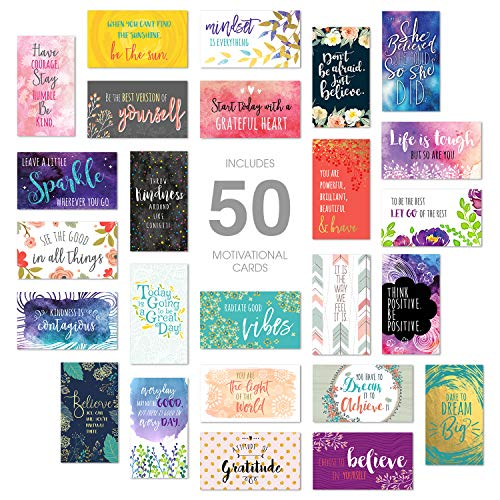 Inspirational Quote Cards/Business Card Size / 50 Positivity Cards / 25 Uplifting Designs