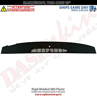 DashSkin Molded Defrost Dash Cover Compatible with 07-14 GM SUVs & Pickups in Ebony/Black