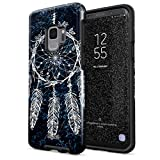 Glitbit Compatible with Samsung Galaxy S9 Case Dreamcatcher Native Nature Dream Catcher Tumblr Boho Indie Bohemian Boheme Heavy Duty Shockproof Dual Layer Hard Shell + Silicone Protective Cover