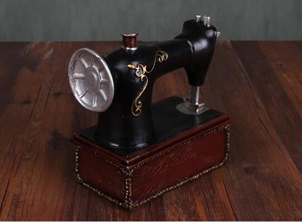 Qiulv Resina Máquina De Coser Hucha Escultura Sencillo Retro ...