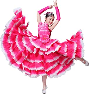 cc8f28319c2d LOLANTA Children Flamenco Dance Costume Petal Spanish Flamenco Performance  Dress