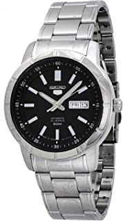 5 SNKN55J1 Men's Japan Stainless Steel Black Dial Day Date Automatic Watch