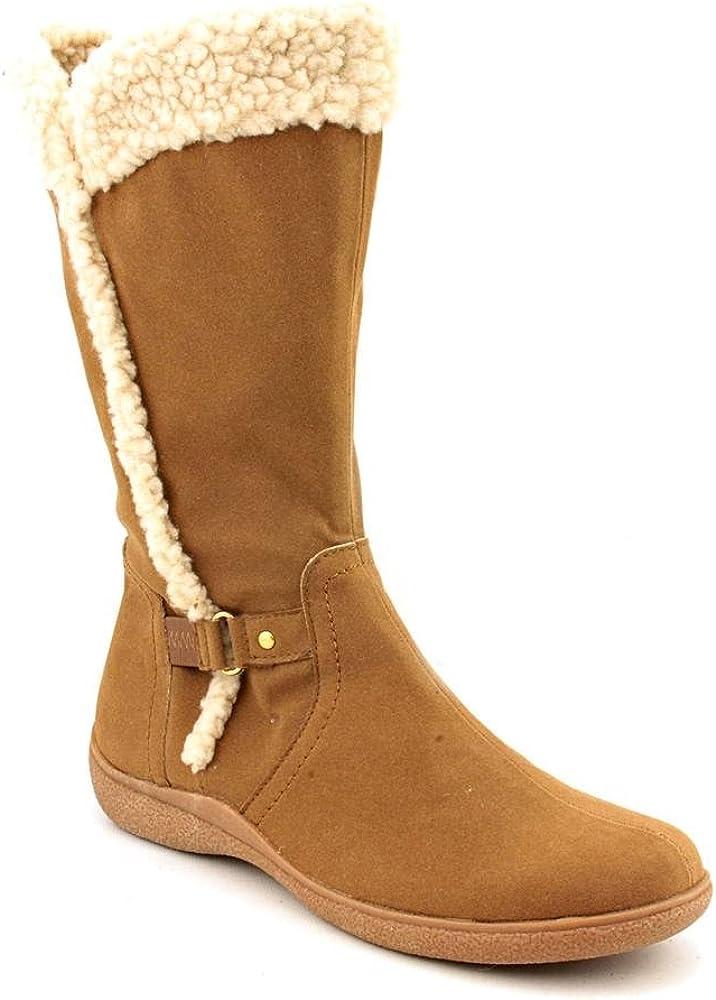 Karen Scott Gaby Mid Calf Womens Winter Boot Shoe Beige Fabric
