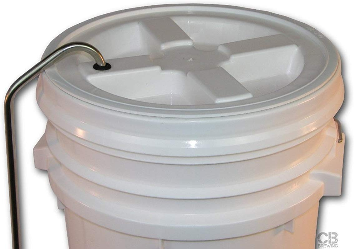 Home Brew Ohio Blow Off Tube For 6 5 And 7 9 Gal Bucket Lids 3 8 Stainless Steel