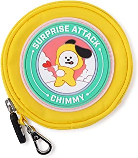 BT21 Official Merchandise by Line Friends - Character Wappen Round Coin Purse Wallet Bag Charm with Zipper