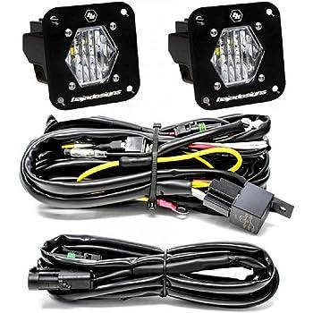Baja Designs S1 Pair Wide Cornering LED Light Pods Flush Mount Backup Kit 387808